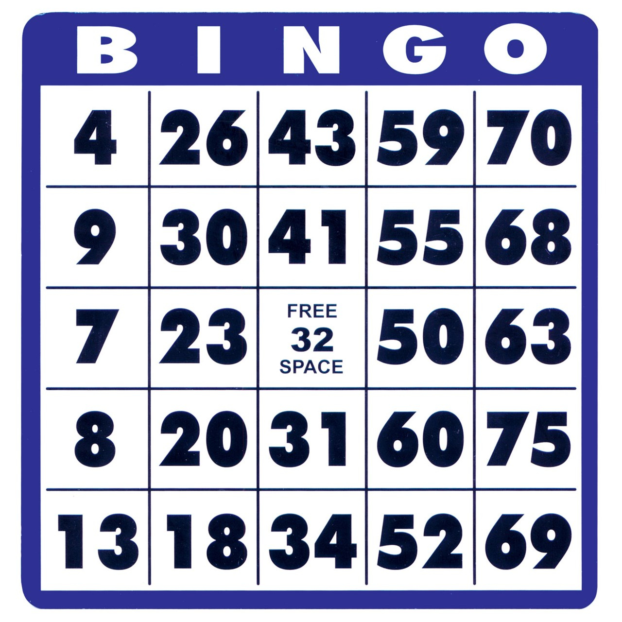 MaxiAids Low Vision Bingo Cards 10 Cards